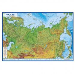 Карта России физич 1:7,5млн 80*116см ламин КН053