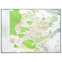 Карта Ставрополь 1:13,2тыс 100*150см настен ламин