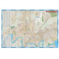 Карта Краснодар 1:15 тыс 100*140см