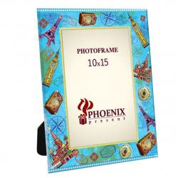 Рамка стеклянная 10*15 Феникс-Презент Столицы мира 76944 рисунок