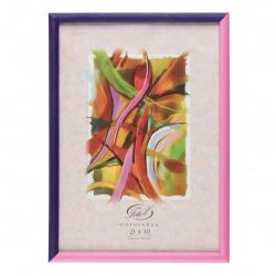 Рамка пластиковая 21*30 Fotex Color 41007/16882 розовый-фиолетовый