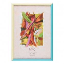 Рамка пластиковая 21*30 Fotex Color 41001/16876 бирюза-слоновая кость