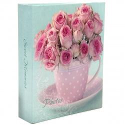 Фотоальбом на 100 фото, 10*15см Delicate flowers Veld-co 91451/LM-4R100