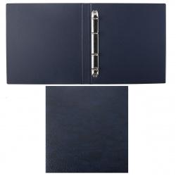 Альбом для монет и купюр 23*25см ДПС 2115.К-201 на кольцах (без файлов) синяя