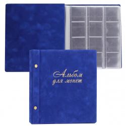 Альбом для монет и купюр на винтах ДПС 2855-301 синий