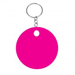 Брелок светоотражающий d=5см Смайлик Розовый deVENTE 9082801