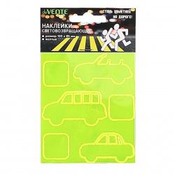Наклейки светоотражающие набор 6шт Машинки deVENTE 9083803