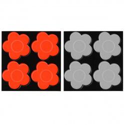 Наклейки светоотражающие набор 4шт 5см Цветы Tukzar TZ 15193