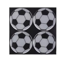 Наклейки светоотражающие набор 4шт 6,5см Мяч КОКОС 207081