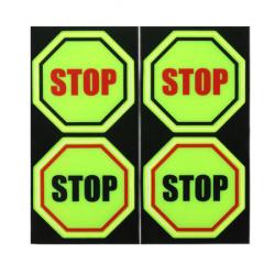 Наклейки светоотражающие набор 4шт 6см Stop КОКОС 207084