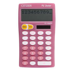 Калькулятор настольный 10 разрядов Citizen FC 100 PKWHB двойное питание 128*75*15мм розовый