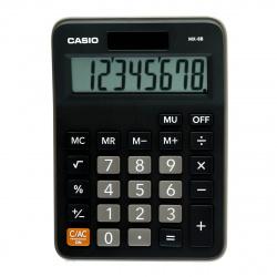 Калькулятор настольный 8 разрядов Casio MX-8B-BK-W-EC двойное питание 147*106*29 черный