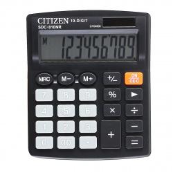 Калькулятор настольный 10 разрядов Citizen SDC 810 NR двойное питание 125*100*26мм черный