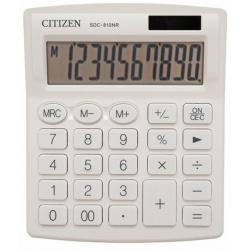 Калькулятор настольный 10 разрядов Citizen SDC 810 NRWH двойное питание 125*105*20мм белый