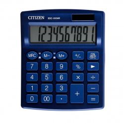 Калькулятор настольный 10 разрядов Citizen (10 разр) SDC 810 NRNV двойное питание 125*105*20мм синий