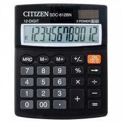 Калькулятор настольный 10 разрядов Citizen SDC 810 BN двойное питание 125*100*26мм черный
