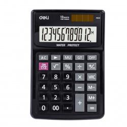 Калькулятор настольный 12 разрядов Deli EM04031/1423022 двойное питание 155*120*42мм черный