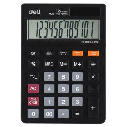 Калькулятор настольный 12 разрядов Deli EM01320/1187623 двойное питание 149*104*26мм черный