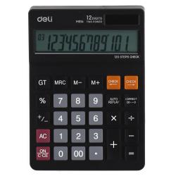 Калькулятор настольный 12 разрядов Deli EM01420/1464684 двойное питание 179*126*28 черный