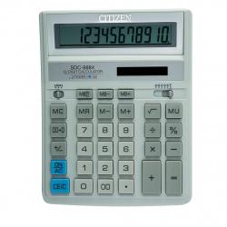 Калькулятор настольный 12 разрядов Citizen SDC 888 XWH двойное питание 204*158*31мм белый