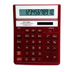 Калькулятор настольный 12 разрядов Citizen SDC 888 XRD двойное питание 204*158*31мм бордовый