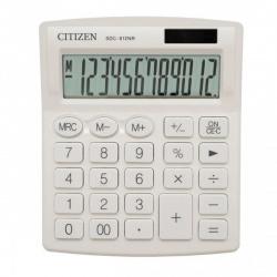 Калькулятор настольный 12 разрядов Citizen SDC 812 NRWHE двойное питание 125*105*20мм белый