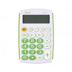 Калькулятор карманный, 8 разрядов, питание батарея, 97*62*11мм   Uniel UK-11G