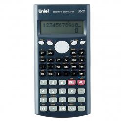 Калькулятор инженерный, 10+2 разряда, питание батарея, 162*84*18мм  (240 функций) Uniel US-21