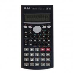 Калькулятор инженерный, 10+2 разряда, питание двойное, 162*84*18мм  (279 функций) Uniel US-54