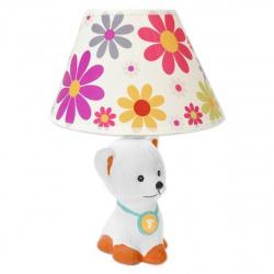 Лампа настольная Camelion KD-560 Собачка белая, керамика (220V,40W, E14)