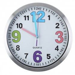 Часы настенные Arte Nuevo EG7762A-HF111 (метал. корпус) белые