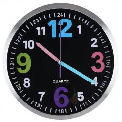 Часы настенные Arte Nuevo EG7762A-HF111 (метал. корпус) черные