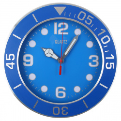 Часы настенные Arte Nuevo EG7763-YP116 (метал. корпус) синие