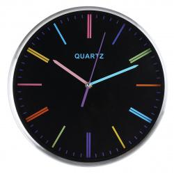 Часы настенные Arte Nuevo EG7764B-CU79/1 (метал. корпус) черный