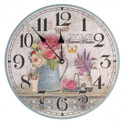 "Часы настенные Arte Nuevo ""Цветы"" 14BD34001 (корпус МДФ, плавный ход)"