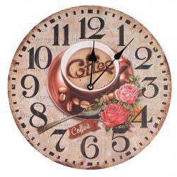 """Часы настенные Arte Nuevo """"Кофе"""" 14BD34001 (корпус МДФ, плавный ход)"""