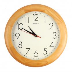 Часы настенные ДС - ББ27 - 012.2 (дерево, дискретный ход)