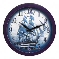 Часы настенные П - Б4.4 - 129 КОРАБЛЬ (пластик, дискретный ход)