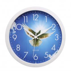 Часы настенные П - Б8 - 371 ГОЛУБЬ (пластик, дискретный ход)