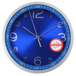 Часы настенные бесшумные WallC-R05P/blue Бюрократ