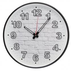 Часы настенные бесшумные WallC-R71P/черный Бюрократ