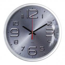 Часы настенные бесшумные WallC-R82P/серебристый Бюрократ