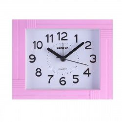 Часы-будильник настольные Centek СТ-7201 (розовый), шаговый ход