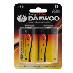 Батарейка Daewoo LR20 2*BL