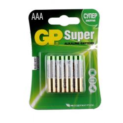 Батарейка GP LR03 Super 4*BL