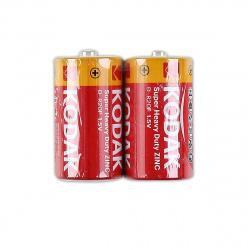 Батарейка солевая, D (R20), 2шт, без блистера Kodak 312
