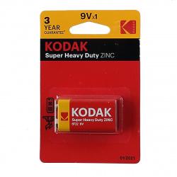 Батарейка щелочные, 6F22, 1шт, блистер с европодвесом Kodak 5555