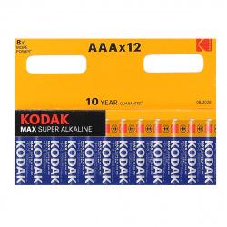 Батарейка алкалиновая, LR03, 12шт, блистер с европодвесом Kodak 7427