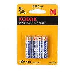 Батарейка алкалиновая, LR03, 4шт, блистер с европодвесом Kodak 27