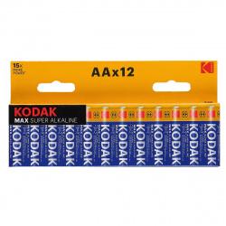 Батарейка алкалиновая, LR06, 12шт, блистер с европодвесом Kodak 7429